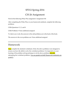 SP212‐Spring‐2016  CH‐26 Assignment