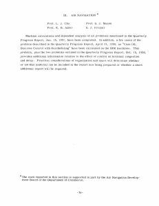Machine  calculations  and  dependent  analysis ... Progress  Report,  Jan.  15,  1951, ...