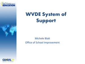 WVDE System of Support Michele Blatt Office of School Improvement