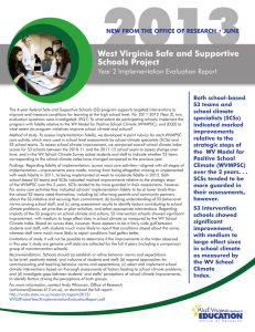 2013 West Virginia Safe and Supportive Schools Project Year 2 Implementation Evaluation Report