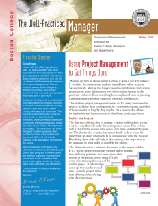 Manager The Well-Practiced Using Project Management to Get Things Done