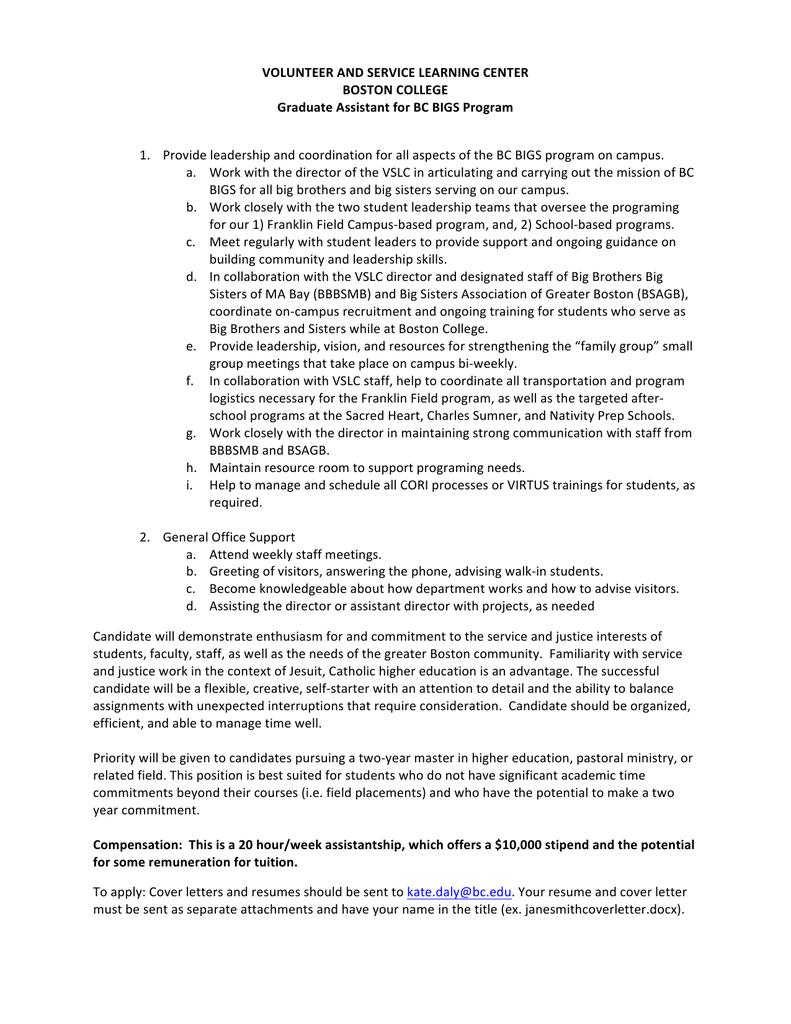 Boston College Cover Letter Cablo Commongroundsapex Co