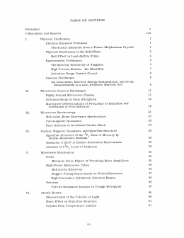 TABLE  OF  CONTENTS v viii Publications  and  Reports