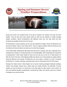 Spring and Summer Severe Weather Preparedness