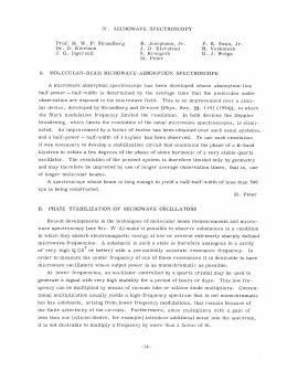 IV. MICROWAVE  SPECTROSCOPY B.  Josephson,  Jr.
