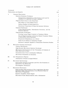 TABLE  OF  CONTENTS Publications  and  Reports viii