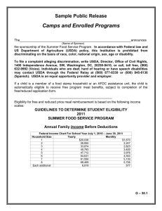 Camps and Enrolled Programs  Sample Public Release