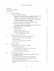 TABLE  OF  CONTENTS Personnel vi Publications  and  Reports