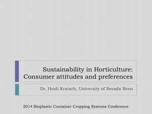 Sustainability in Horticulture, Consumer Preference