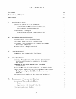 Personnel vii xii Publications  and  Reports