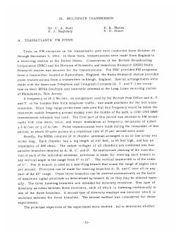 IX. MULTIPATH  TRANSMISSION E.  E.  Manna