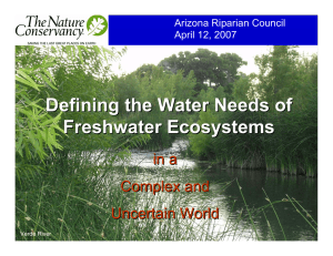 Defining the Water Needs of Freshwater Ecosystems in a Complex and