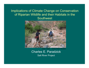 Implications of Climate Change on Conservation Southwest