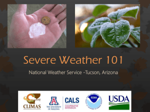 Severe Weather 101 National Weather Service -Tucson, Arizona