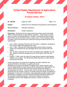 United States Department of Agriculture Forest Service Aviation Safety Alert