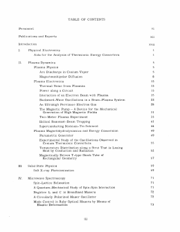 TABLE  OF  CONTENTS Publications  and  Reports xii Introduction