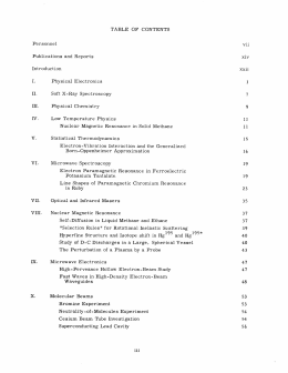 TABLE  OF  CONTENTS Personnel vii Publications  and  Reports