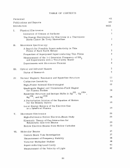 TABLE  OF  CONTENTS vii Personnel xiv