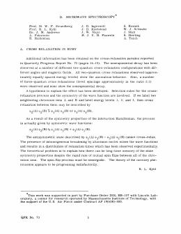MICROWAVE  SPECTROSCOPY II. J.  G.  Ingersoll