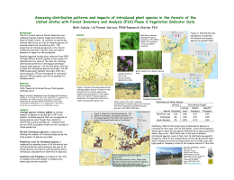 Assessing distribution patterns and impacts of introduced plant species in... United States with Forest Inventory and Analysis (FIA) Phase 3...