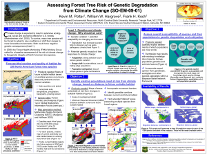 Assessing Forest Tree Risk of Genetic Degradation from Climate Change (SO-EM-09-01)