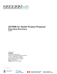 ACTION for Health Project Proposal : Executive Summary