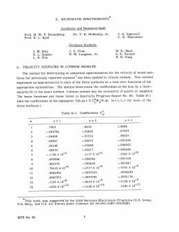 II.  MICROWAVE  SPECTROSCOPY J.  G.  Ingersoll