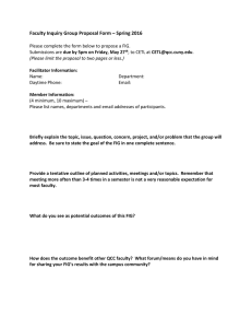 Faculty Inquiry Group Proposal Form – Spring 2016