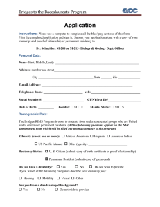 Application Bridges	to	the	Baccalaureate	Program