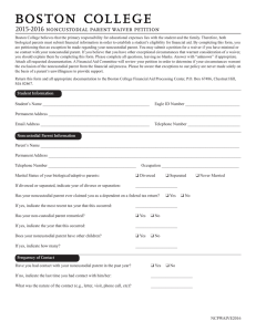 2015-2016 noncustodial parent waiver petition