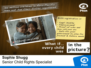 Sophie Shugg Senior Child Rights Specialist