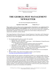 THE GEORGIA PEST MANAGEMENT NEWSLETTER
