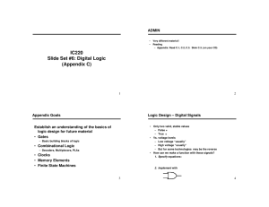 IC220 Slide Set #6: Digital Logic (Appendix C)