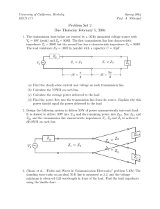 Problem Set 2 Due Thursday February 5, 2004