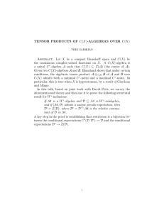 TENSOR PRODUCTS OF C(X)-ALGEBRAS OVER C(X)