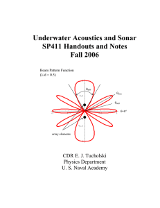Underwater Acoustics and Sonar SP411 Handouts and Notes Fall 2006
