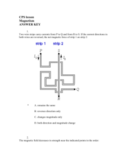 CPS lesson Magnetism ANSWER KEY