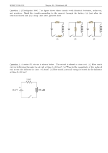 Question 1: (Checkpoint 30-6) The figure shows three circuits with... and resistors. Rank the circuits according to the current through...