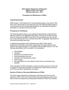 West Virginia Department of Education Effective Date July 1, 2011