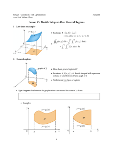 Lesson 44  Double Integrals Over General Regions, cont  1