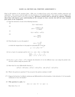 MATH 110, SECTION 003, WRITTEN ASSIGNMENT 3