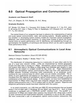 6.0  Optical  Propagation  and  Communication