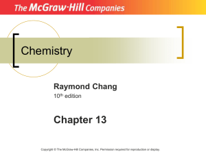Chemistry Chapter 13 Raymond Chang 10