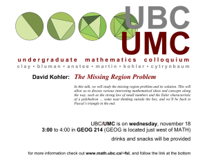 UBC UMC The Missing Region Problem