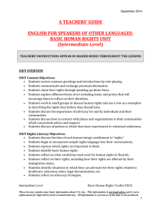 A TEACHERS' GUIDE  ENGLISH FOR SPEAKERS OF OTHER LANGUAGES: