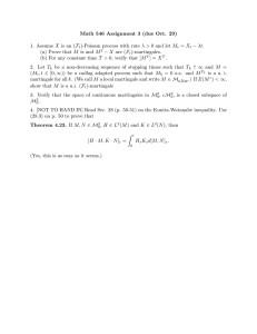 Math 546 Assignment 3 (due Oct. 29) − λt.