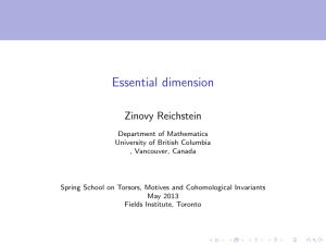 Essential dimension Zinovy Reichstein