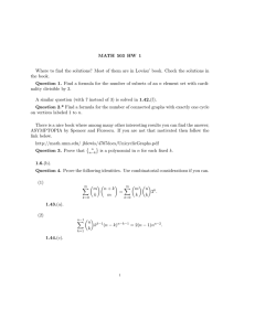 MATH 503 HW 1 asz' book. Check the solutions in the book.