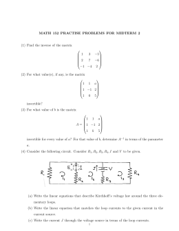 MATH 152 PRACTISE PROBLEMS FOR MIDTERM 2  