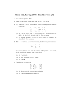 Math 152, Spring 2008, Practise Test #2